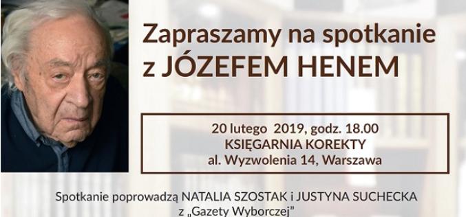Wydawnictwo Sonia Draga zaprasza na spotkanie z Józefem Henem