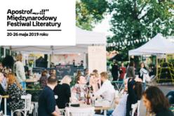 Apostrof. Międzynarodowy Festiwal Literatury 2019