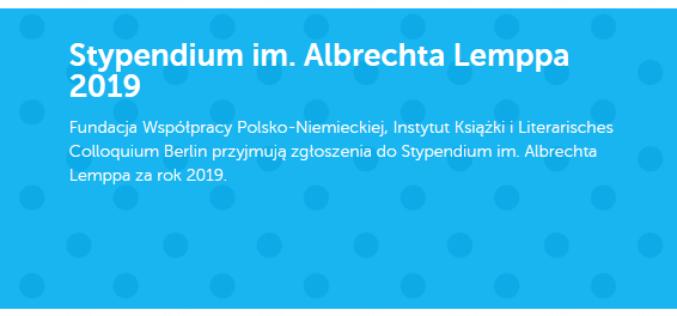Stypendium im. Albrechta Lemppa za rok 2019 dla Małgorzaty Rejmer i Julii Wolf