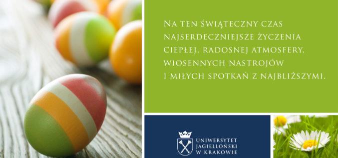 Zdrowych i pogodnych Świąt Wielkanocnych życzy Zespół Wydawnictwa Uniwersytetu Jagiellońskiego