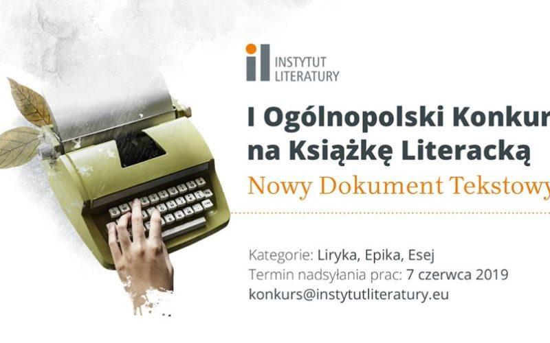 """I Ogólnopolski Konkurs na Książkę Literacką """"Nowy Dokument Tekstowy"""""""