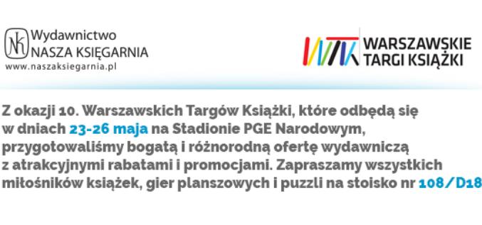 """Wydawnictwo """"Nasza Księgarnia"""" podczas Warszawskich Targów Książki"""