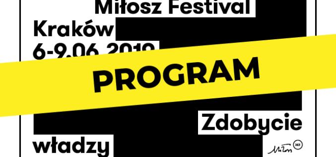 Poznaj program Festiwalu Miłosza 2019