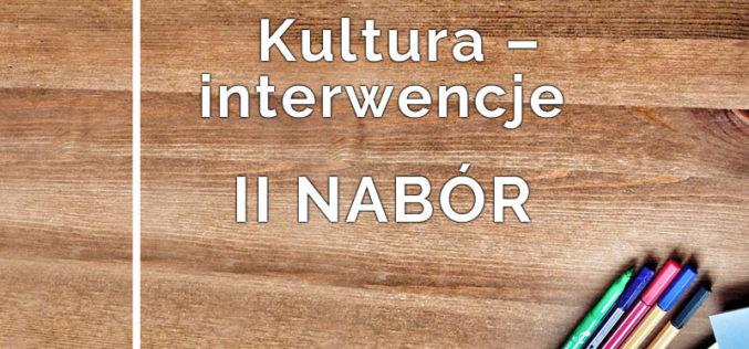 II nabór do programu Kultura – Interwencje 2019!