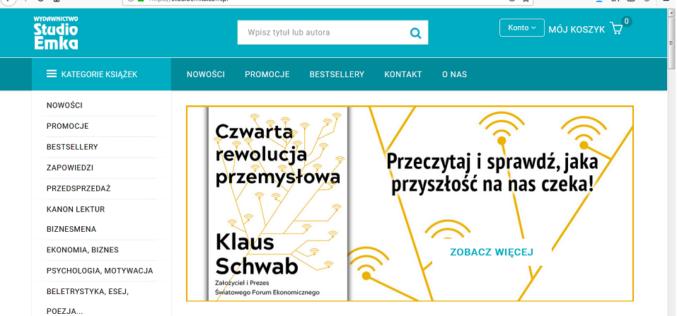 Ruszyła nowa strona internetowa wydawnictwa Studio Emka
