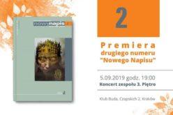 """Już 5 września premiera drugiego numeru """"Nowego Napisu"""" / Koncert 3. Piętra"""