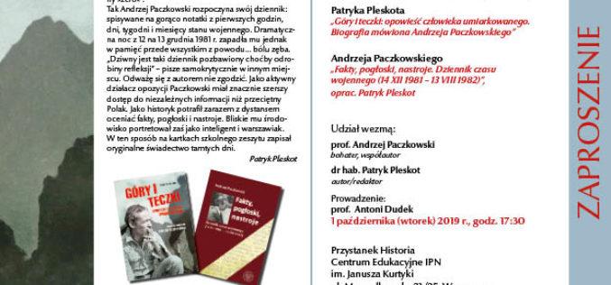 Rozmowa o biografii mówionej prof. Andrzeja Paczkowskiego oraz jego dzienniku czasu wojennego