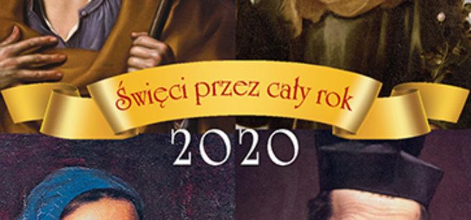 2020. Święci przez cały rok. Kalendarz zdzierak