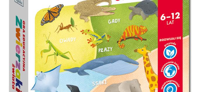 Zwierzaki świata – gra edukacyjna od Kapitana Nauki