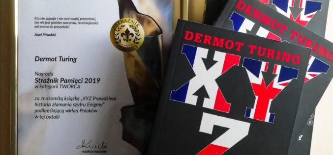 """Dermot Turing otrzymał nagrodę """"Strażnika Pamięci 2019"""" w kategorii """"twórca""""!"""