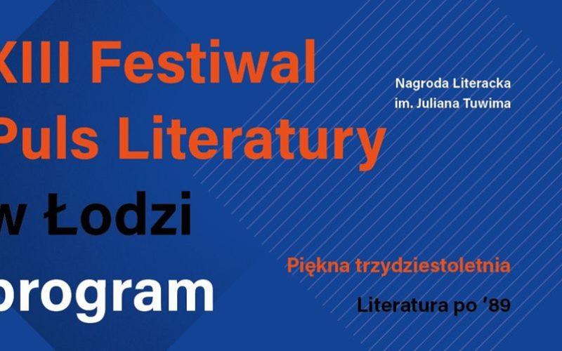 Znamy pełen program 13 edycji. Festiwalu Puls Literatury