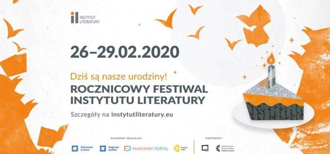 Festiwal rocznicowy Instytutu Literatury – Dziś są nasze urodziny!