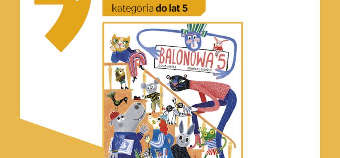 Balonowa 5 nominowana w konkursie na Najlepszą Książkę Dziecięcą 2019