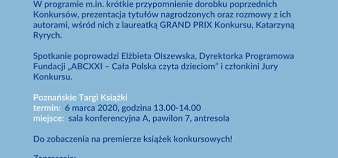 Zaproszenie na uroczystą premierę książek nagrodzonych w konkursie im. Astrid Lindgren