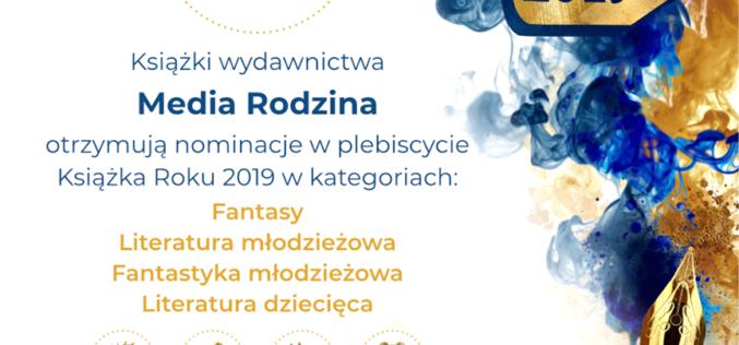 Cztery książki Wydawnictwa Media Rodzina zostały nominowane w plebiscycie Lubimyczytac.pl