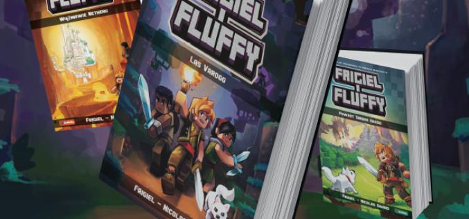 """""""Frigiel i Fluffy"""". Seria książek, w której młodzi czytelnicy odkryją ekscytujący świat przygód, fantastyki i minecrafta!"""