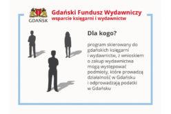 Gdański Fundusz Wydawniczy wsparcie lokalnych księgarni i wydawnictw