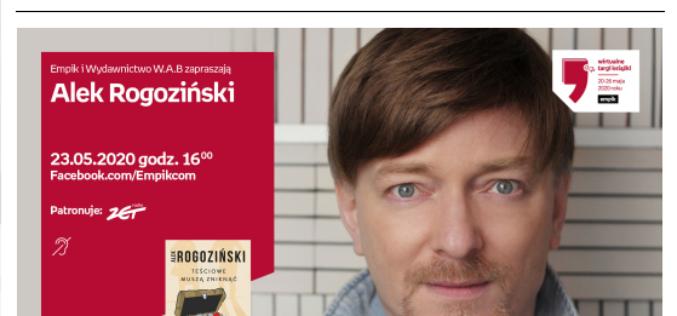Alek Rogoziński na Wirtualnych Targach Książki Empik!