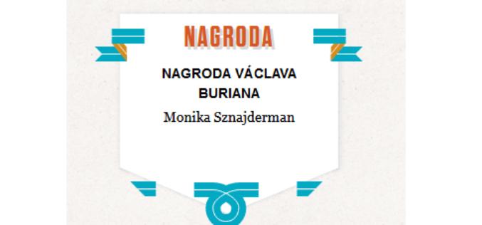 Monika Sznajderman tegoroczną laureatką Nagrody im. Václava Buriana