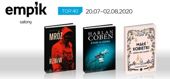 Książkowa lista TOP 40 w salonach Empik za okres 20.07-2.08.2020 r.