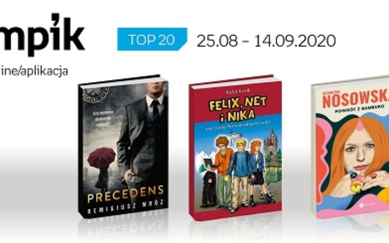 Książkowa lista TOP20 na Empik.com za okres 25.08-14.09.2020 r.