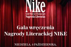 Finał Nagrody Literackiej Nike już 4 października br.