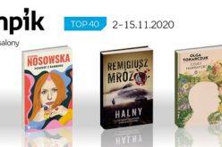 Książkowa lista TOP 40 w salonach Empik za okres 2-15.11.2020 r.