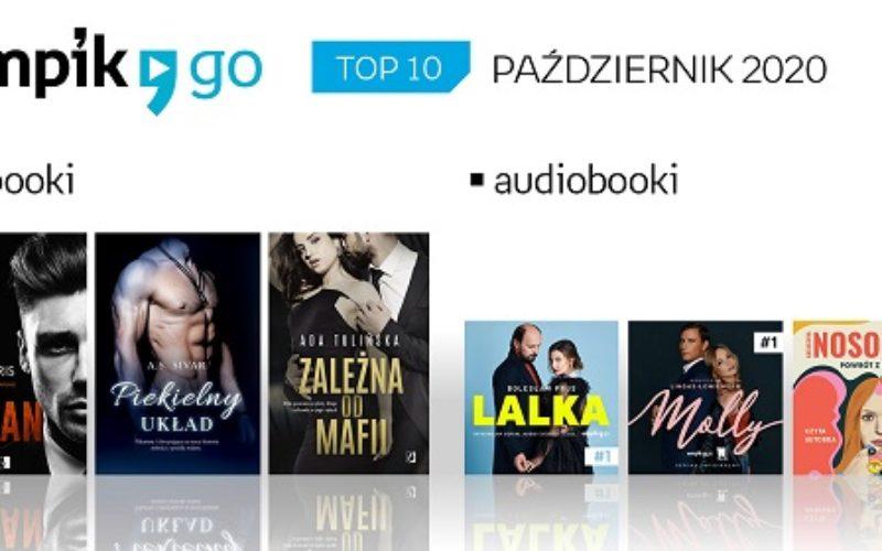 Lista TOP 10 audiobooków i e-booków w aplikacji Empik Go w październiku