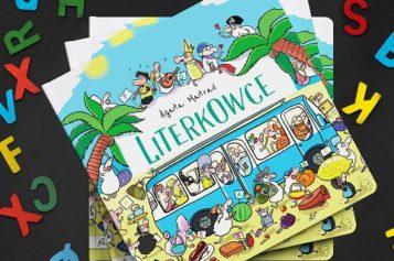 """Książka """"Literkowce"""" do nauki literek to zbiór zabawnych rymowanek zawierających słowa na litery od A do Z"""