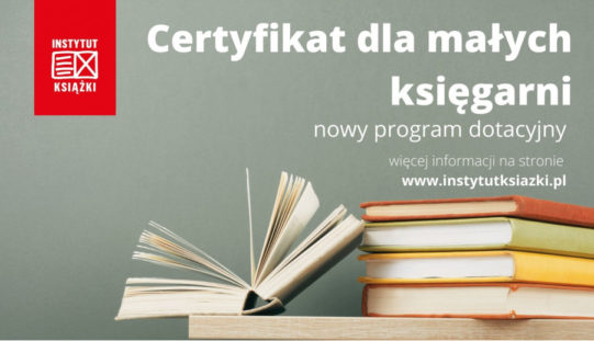 """Zaproszenie na szkolenie: Jak skorzystać z programu """"Certyfikat dla małych księgarni"""""""
